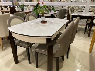 Modern Style Solid Wood Dinette Good Scratch Resistant For Hotel