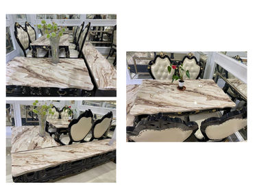 Modern Style Marble Granite Coffee Table With Gold Plated Iron Tube Keel