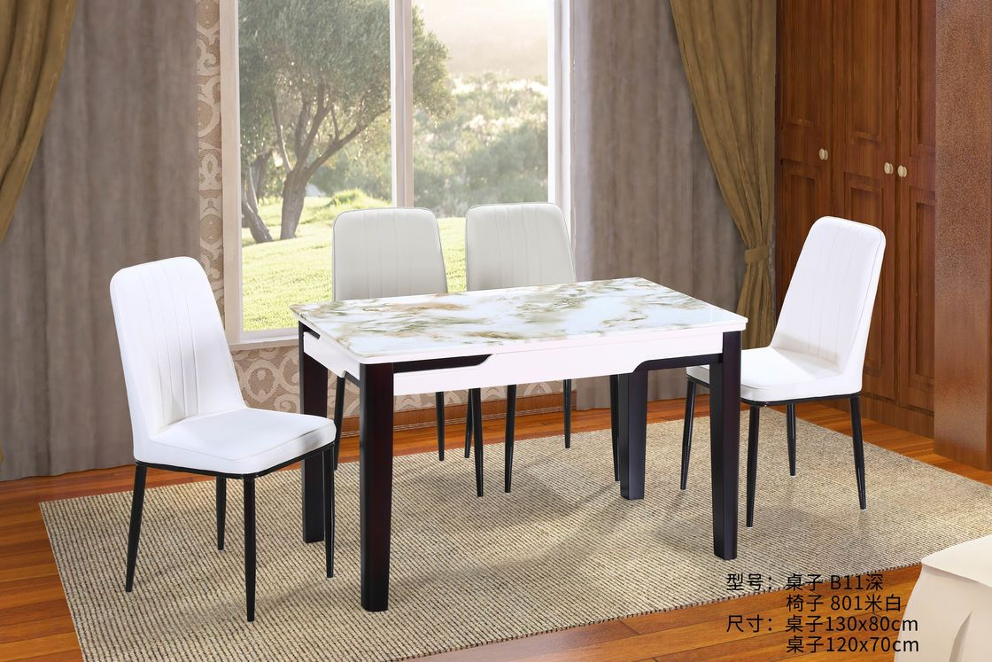 nordic style oak kitchen table and chairs  walnut color
