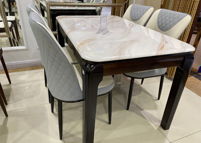Dining Room Table With Faux Marble Top